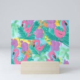 Tropical Flamingo Jungle Mini Art Print
