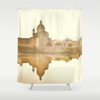 florence Shower Curtains featuring Florence Reflected by Katie Koop