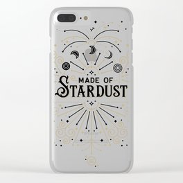 Made of Stardust – Black & Gold Palette Clear iPhone Case