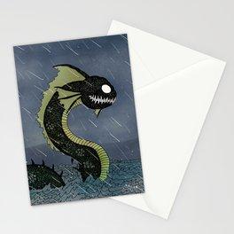 Sea Serpent & Viking Longboat Stationery Cards
