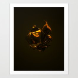 King Dark CatFish - The Heart Art Print
