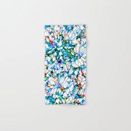 Glass stain mosaic 3 floral - by Brian Vegas Hand & Bath Towel