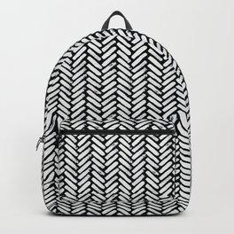 Painterly Herringbone Backpack