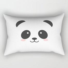 black and white panda Rectangular Pillow