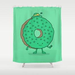 The St Patricks Day Donut Shower Curtain