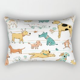 Dogs Dogs Dogs Rectangular Pillow