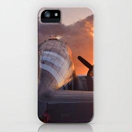 Douglas C-47  sunset iPhone Case