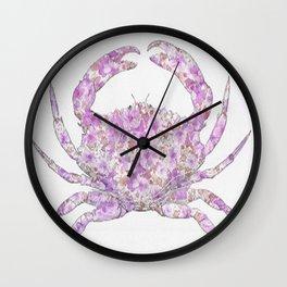 Floral Crab  Wall Clock