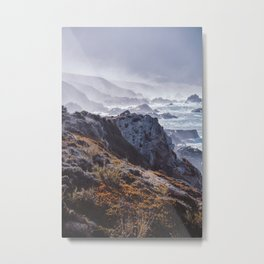 Big Sur Morning fog, Highway 1. American Landscapes.  California, United States | Colourful Travel Fine Art. Nature Print. Photography Wall Art. Metal Print
