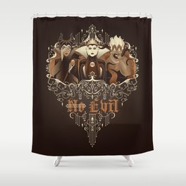Three Wise Villains Shower Curtain