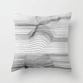 Body Line Throw Pillow