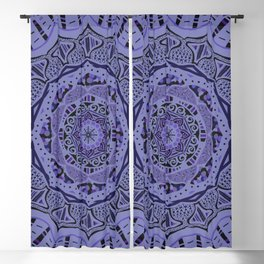 Romantic Violet Mandala at Midnight Blackout Curtain