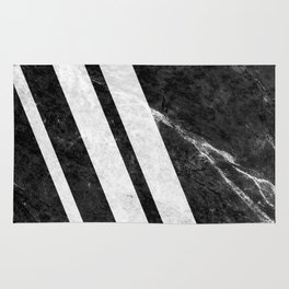 Black Striped Marble Rug