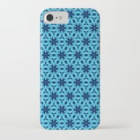 knitting iPhone & iPod Cases featuring blue Knitting by clemm