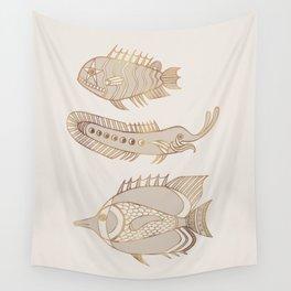 Fantastical Fish 1 - Natural Wall Tapestry