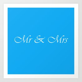 Mr & Mrs Monogram Art Print