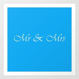 Mr & Mrs Monogram Art Print