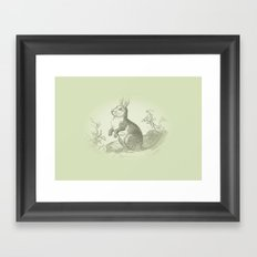 Bunny Rabbit {soft sage green} Framed Art Print