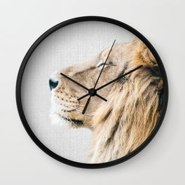 Lion Portrait - Colorful Wall Clock