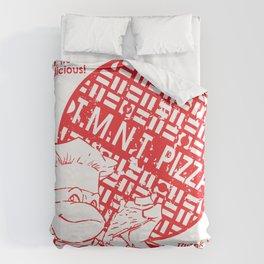 TMNT Pizza Duvet Cover