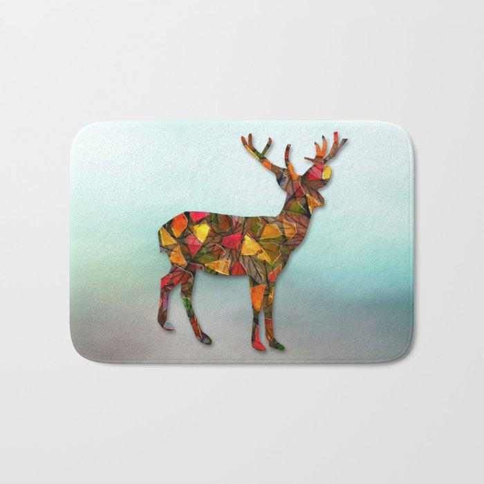 Animal Mosaic - The Deer Bath Mat