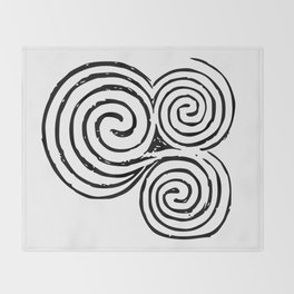 Newgrange Celtic Spiral Throw Blanket