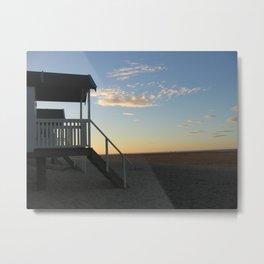 Beach Hut View Metal Print