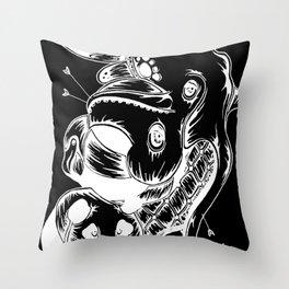 Octo Bird Panda (Dark) Throw Pillow