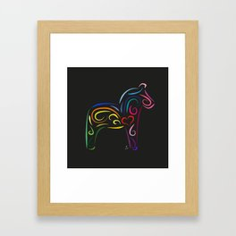 The dalecarlian horse - The heart of Esperanza Framed Art Print