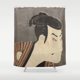 Famous Japanes Art: Tōshūsai Sharaku - Print of Ōtani Oniji III in the Role of the Servant Edobei Shower Curtain