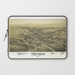 Aerial View of Fleetwood, Pennsylvania (1893) Laptop Sleeve