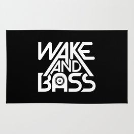 Wake And Bass (White) Rug