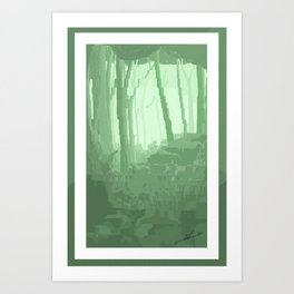Lo Res Grove Art Print
