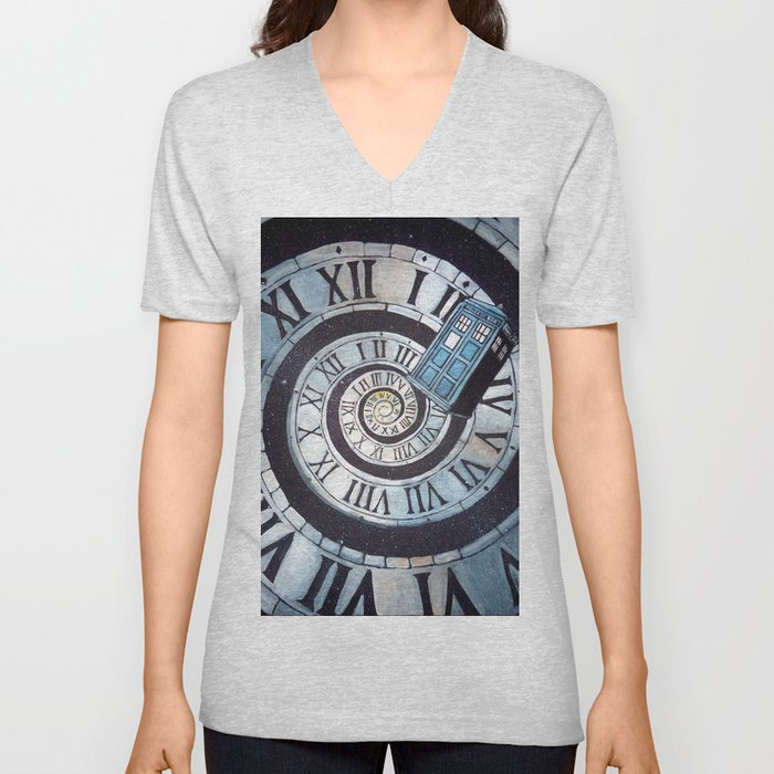 Through time and space... Unisex V-Neck