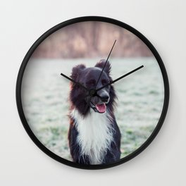 laughing dog Wall Clock