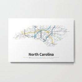 Highways of the USA – North Carolina Metal Print