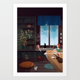 Songwriter Art Print