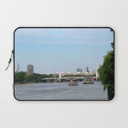 View of the River Thames from the Albert Bridge in London Laptop Sleeve