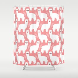 The Alpacas II Shower Curtain