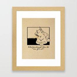 Charles Dickens - Love of a Cat Framed Art Print