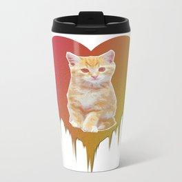 Cat in your heart Metal Travel Mug
