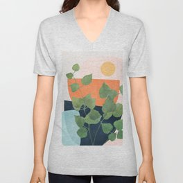 Nature Geometry IX Unisex V-Neck