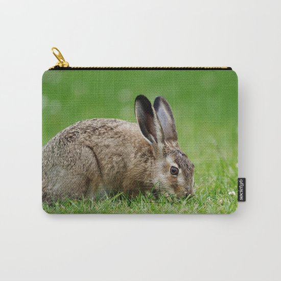 Lepus europaeus young hare Carry-All Pouch
