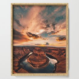horse shoe bend canyon Serving Tray