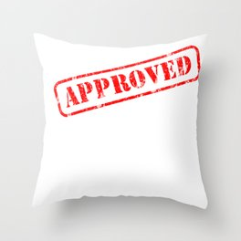 Graduation Gift Stamp Approved for Doctorate Throw Pillow