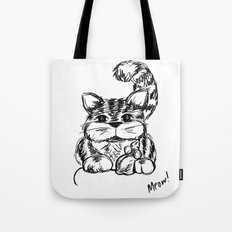 Unlikely Friends :: Cat & Mouse Tote Bag
