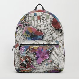 world map urban vintage Backpack
