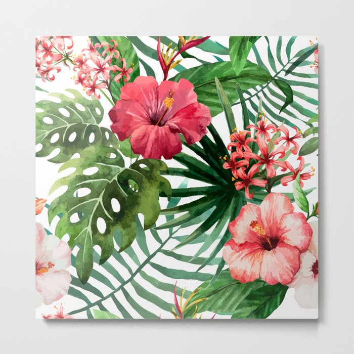 FLOWERS WATERCOLOR 8 Metal Print