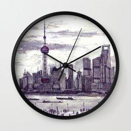 Shanghai. China. Pudong 2013 Wall Clock