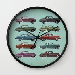 Five Oldsmobiles Wall Clock